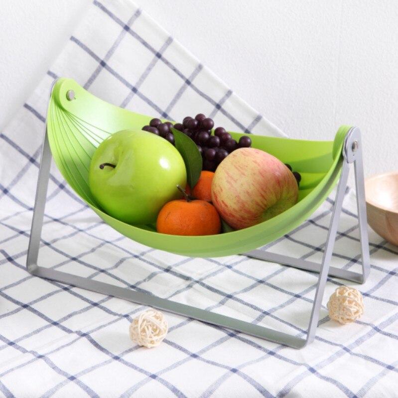 Creative Design Dinning Table Storage Rack Folding Desktop Fruit Storage Basket Rack Fashion Durable Table Organizer