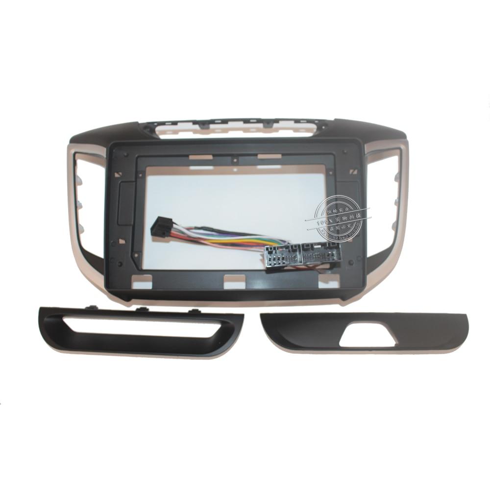 HANGXIAN 2Din voiture Radio Fascia cadre pour Hyundai ix25 CRETA 2015-2016 voiture DVD gps panneau tableau de bord Kit Installation cadre garniture lunette