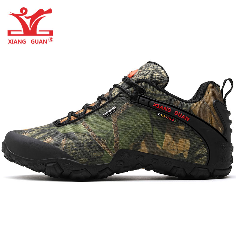 XIANG GUAN Man Hiking Shoes Male Waterproof Trekking Boots Army Green Zapatillas Sports Climbing Shoe Outdoor Walking Sneakers 8 цена