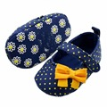 Kids Baby Girls Toddler Polka Dot Bows Crib Shoes Soft Prewalker 3-12 month