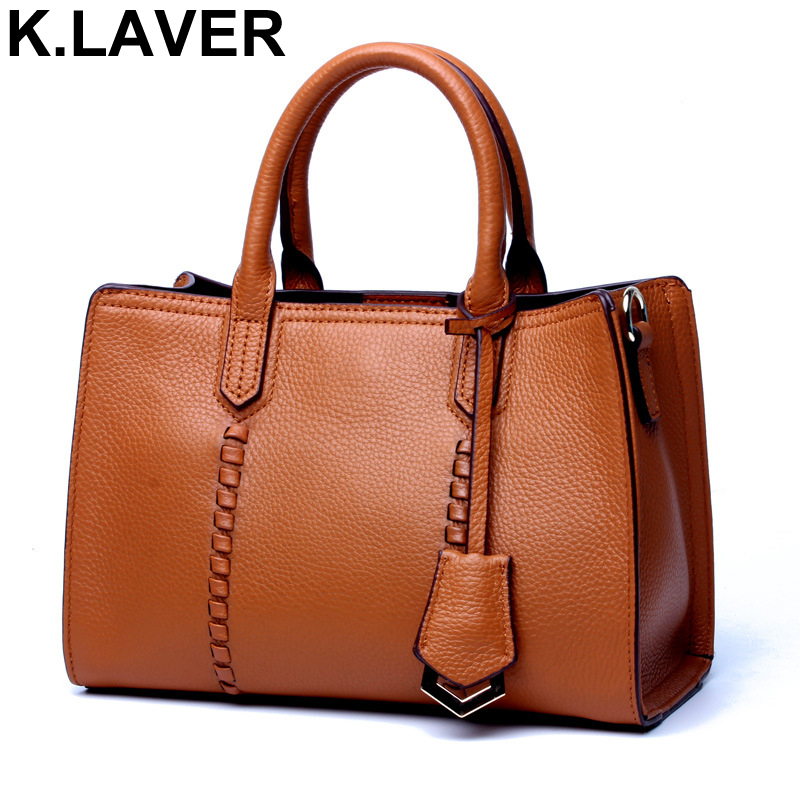 K.LAVER Fashion Bag Female Genuine Leather Handbags Women Bags Designer Famous Brands Crossbody Messenger Shoulder Bag Tote Bag monf genuine leather bag famous brands women messenger bags tassel handbags designer high quality zipper shoulder crossbody bag