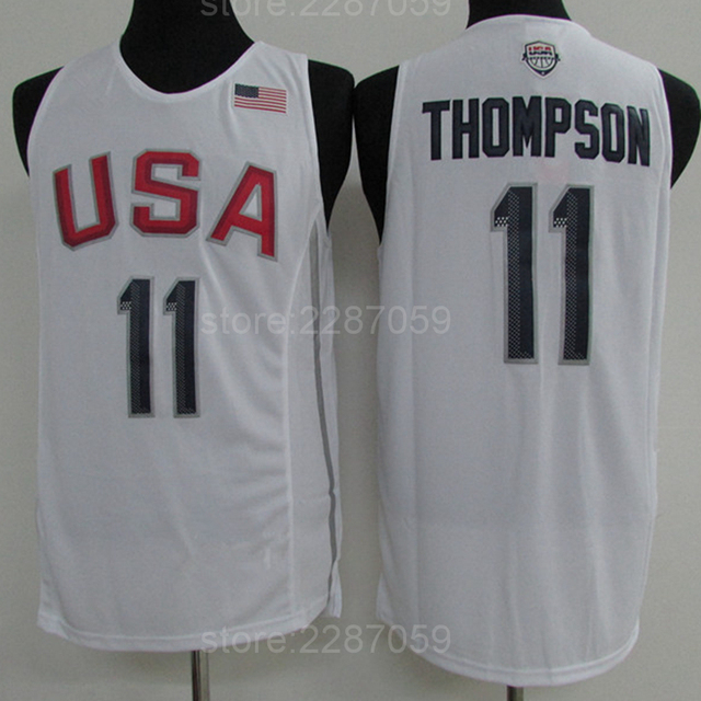 77ad8c721 promo code for ediwallen sale 11 klay thompson 2016 dream team twelve usa  jerseys basketball navy