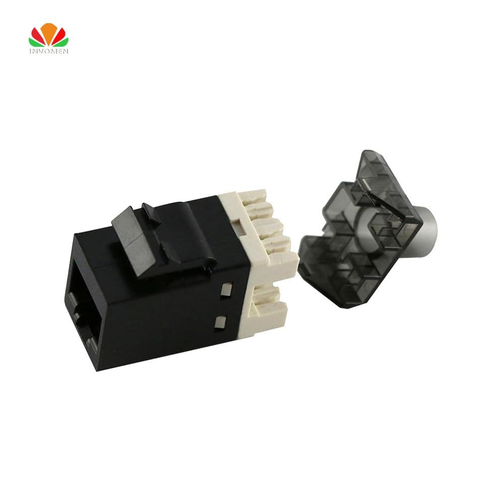 UTP RJ45 Connector CAT6 Network Module Information Socket Computer Outlet Cable Adapter Keystone Jack For Amp Ethernet