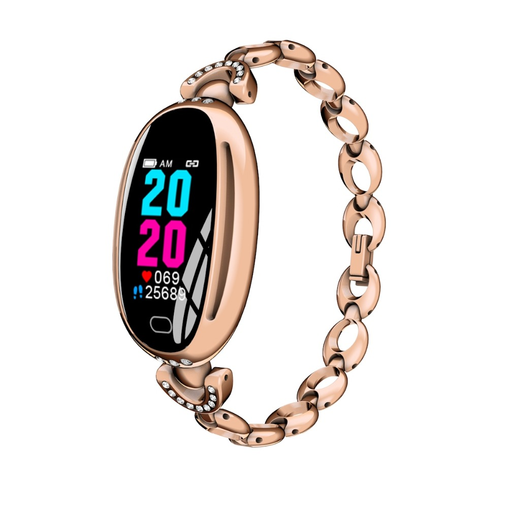 696 Women Fashion Sports Smart bracelet E68 Waterproof SmartWatch Heart Rate Blood Pressure Pedometer Watch For Android iOS Band meanit m5