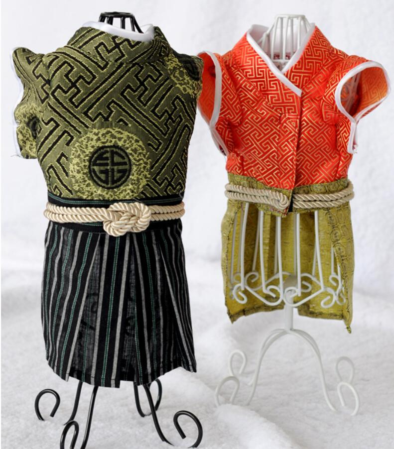 Kimono samurai Ropa para mascotas del gato Estilo de Japón Disfraces para gatos Ropa para perros ropa para perros pequeños mascotas para perros