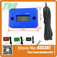 Hour Meter Marine ATV Motorcycle Dirt Ski Mower Boat Bike Engine waterproor BLACK red blue green
