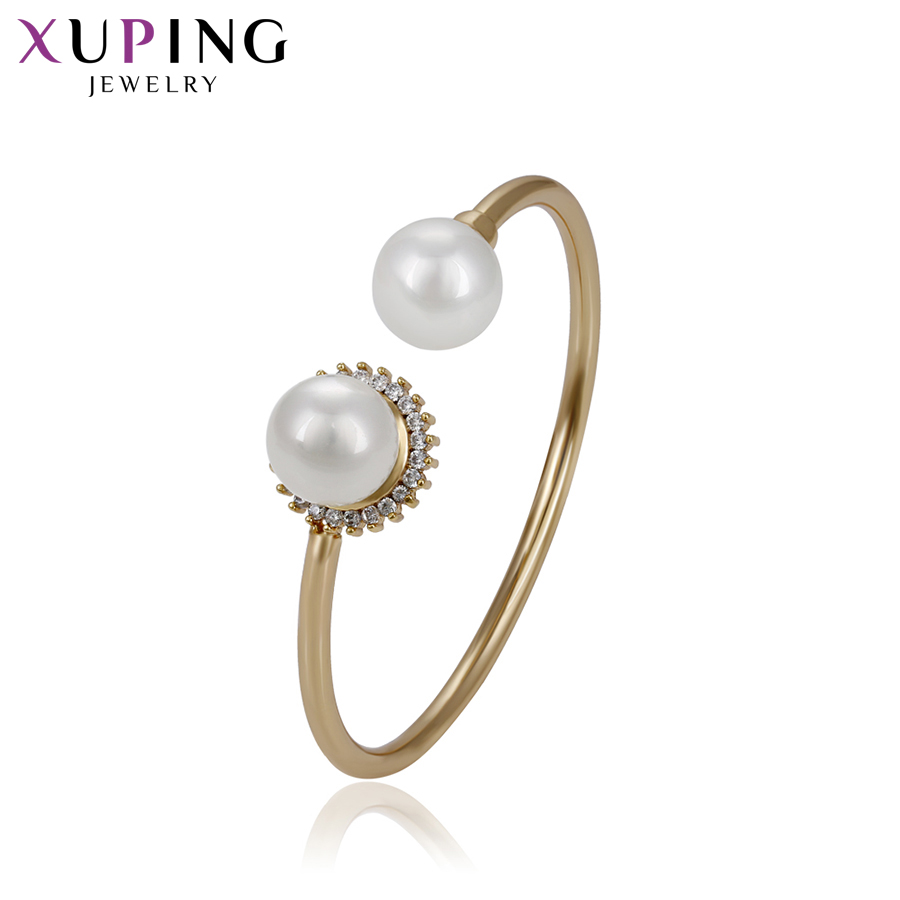 Honest Xuping Fashion Gold Color Plated Temperament Bangle New Arrival High Quality Jewelry For Women Girls Wedding Gift S72,3-51749 Discounts Price Bracelets & Bangles