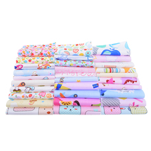 30Pcs/Lot 10x10cm Random Color Print Twill Cotton Fabric Bundle/Patchwork For DIY Quilting Sheet Pillow Sewing Materials