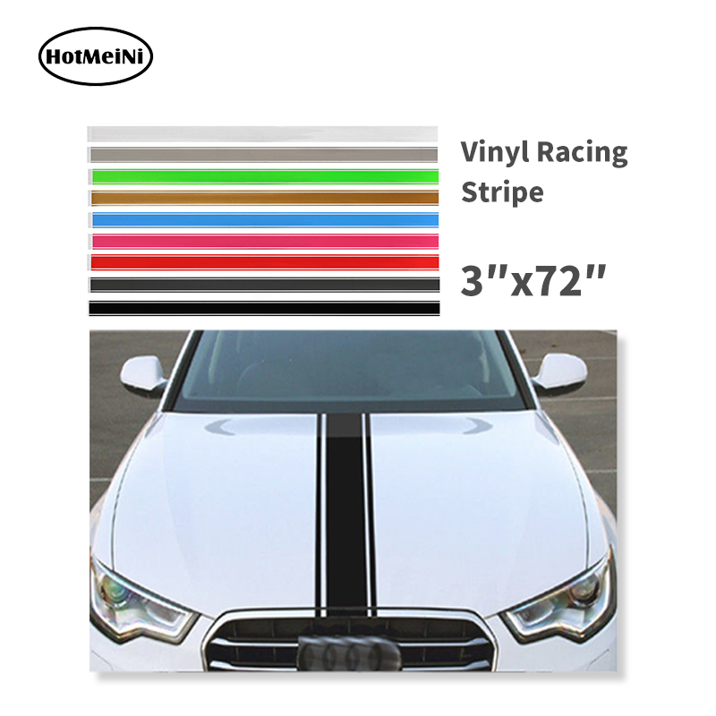 Car Stickers and Decals Car Styling 3x72 183x8 cm Car Truck SUV Racing Stripe Vinyl Hood Engine Cover DIY Stripe Decoration 2pcs auto side skirt car stickers and decals racing stripe vinyl car styling labels body sticker accessories for mercedes benz
