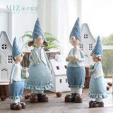 Miz 1 Pair Resin Figurine Christmas Gift Toy for Children Couple Doll Boy & Girl Figure Christmas Decoration Accessories