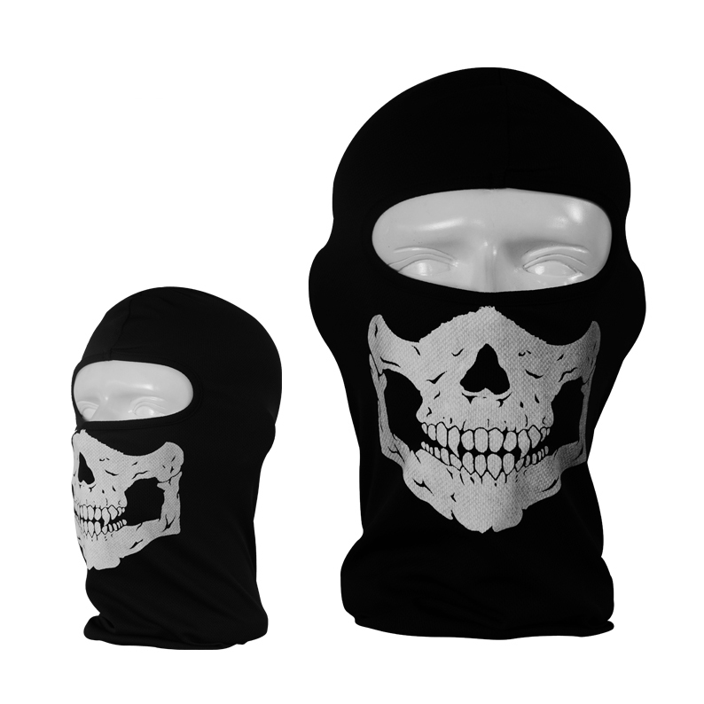 2017 Polyester Motorcycle Caps Skull Mask Deadpool Skeleton Hat Balaclava Hood Jungle Field Training Face Beanie Cap Funny Hats
