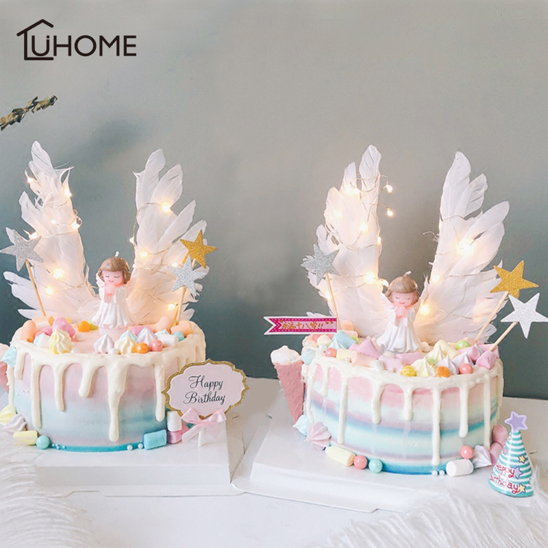 Outstanding Angel Wings Flag String Light Angel Candle Wedding Cupcake Cake Personalised Birthday Cards Epsylily Jamesorg