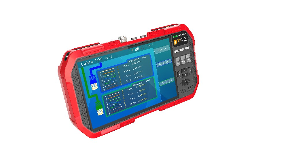 2019 7 Cal 5 w 1 H.265 4K HD CCTV IP Tester monitora AHD CVI TVI CVBS Test kamery 8MP ONVIF wejście HDMI multimetr z włókna optycznego w Skrzynie biegów i kable od Bezpieczeństwo i ochrona na  Grupa 1