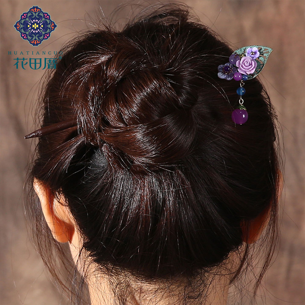 Ethnic Handmade Flower Hairpin 4