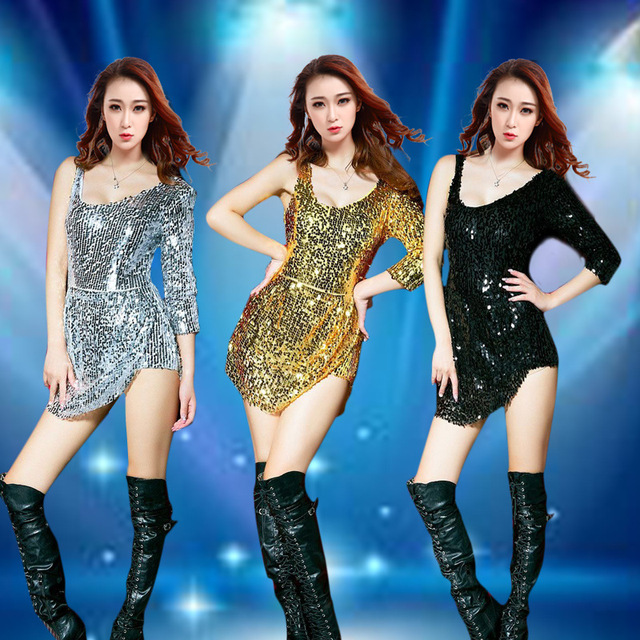 2017 night club female singer costume ds Performance Wear costume jazz dance costumes paillette sexy bodysuit women dance dress