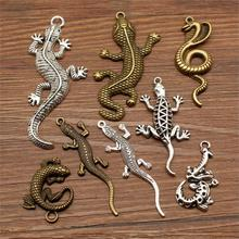 3 Piece Lizard Jewelry Mix Snake Earrings Pendant For Making Diy Craft Supplies Encourage Text Tag Charms Men
