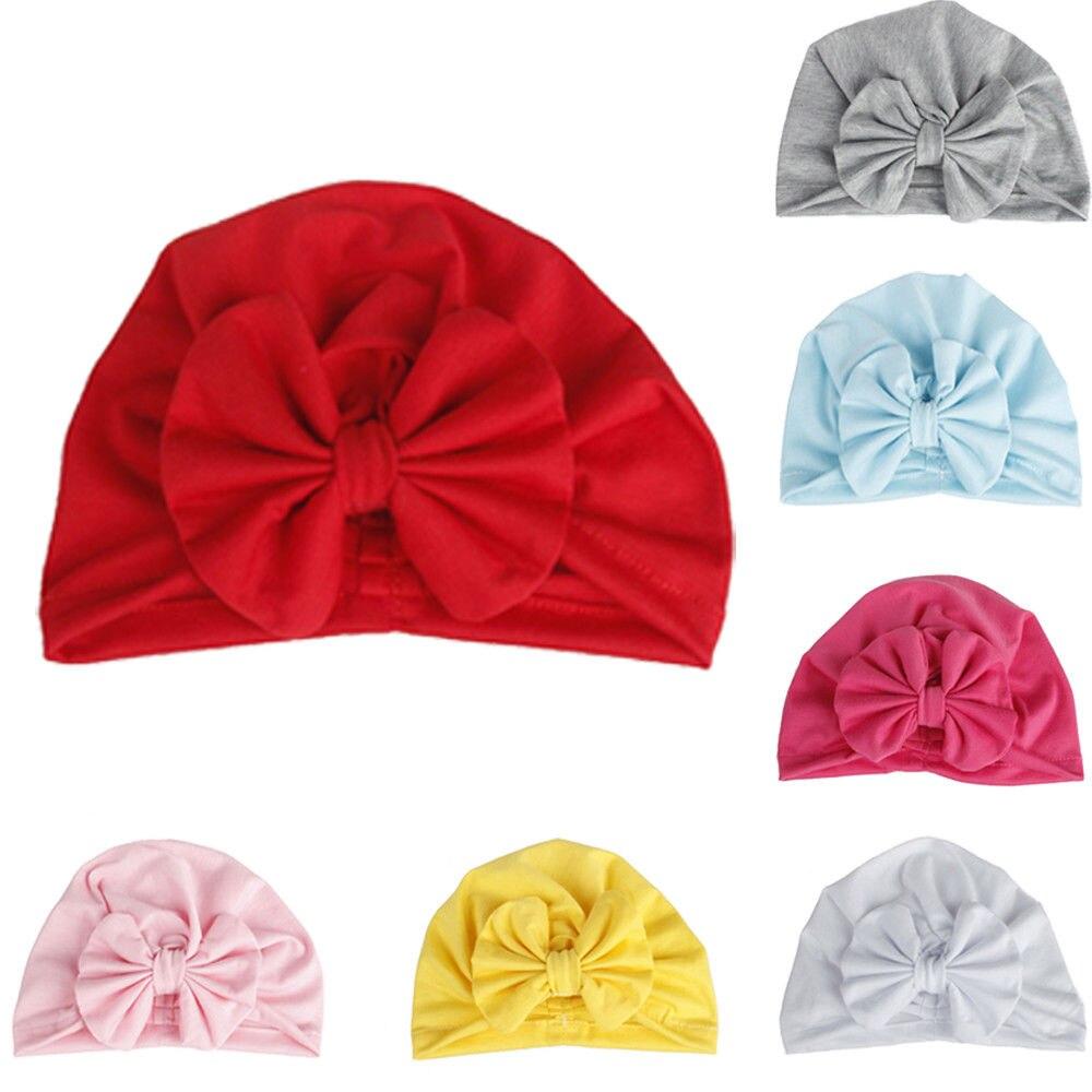 2018 Mode Baumwolle Beanie Für Neue Geboren Baby Junge Mädchen Kinder Kinder Bowknot Solide Weichen Hut Kappe Neue Ss Zahlreich In Vielfalt
