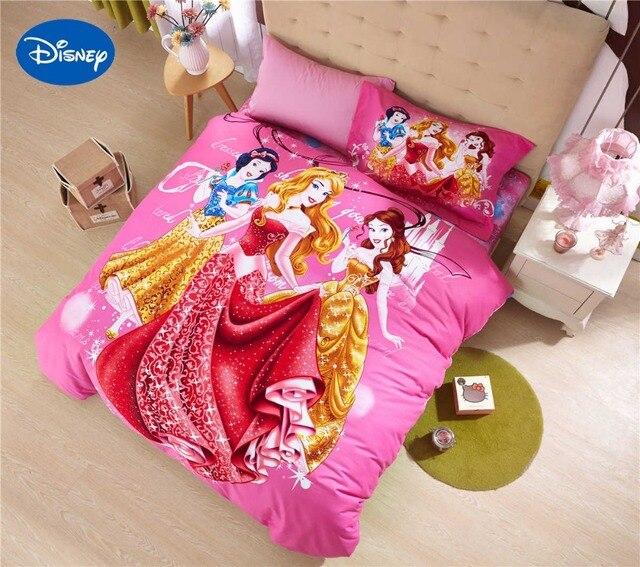 Princess Comforter Bedding Set Baby Girls Bed Cover Sheets Cartoon Disney  Sanding Cotton Warm Soft Winter Pink Single Twin Queen