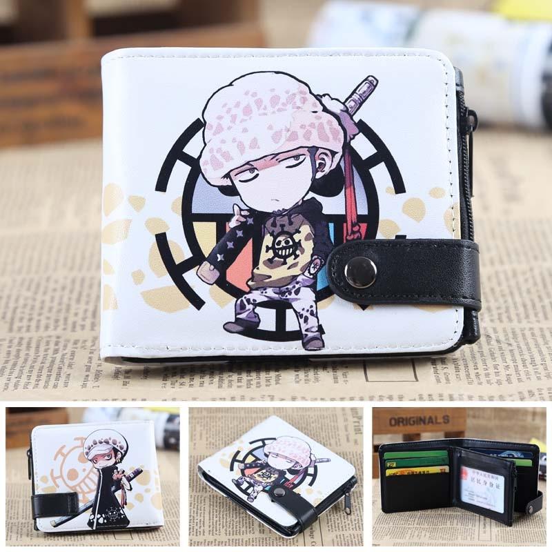 Anime One Piece The Surgeon Of Death Trafalgar Law PU Short Zero Wallet/Coin Purse/Multilayer Double-button Wallet