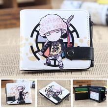 Anime One Piece The Surgeon of Death Trafalgar Law PU Short Zero Wallet/Coin Purse/Multilayer Double-button Wallet
