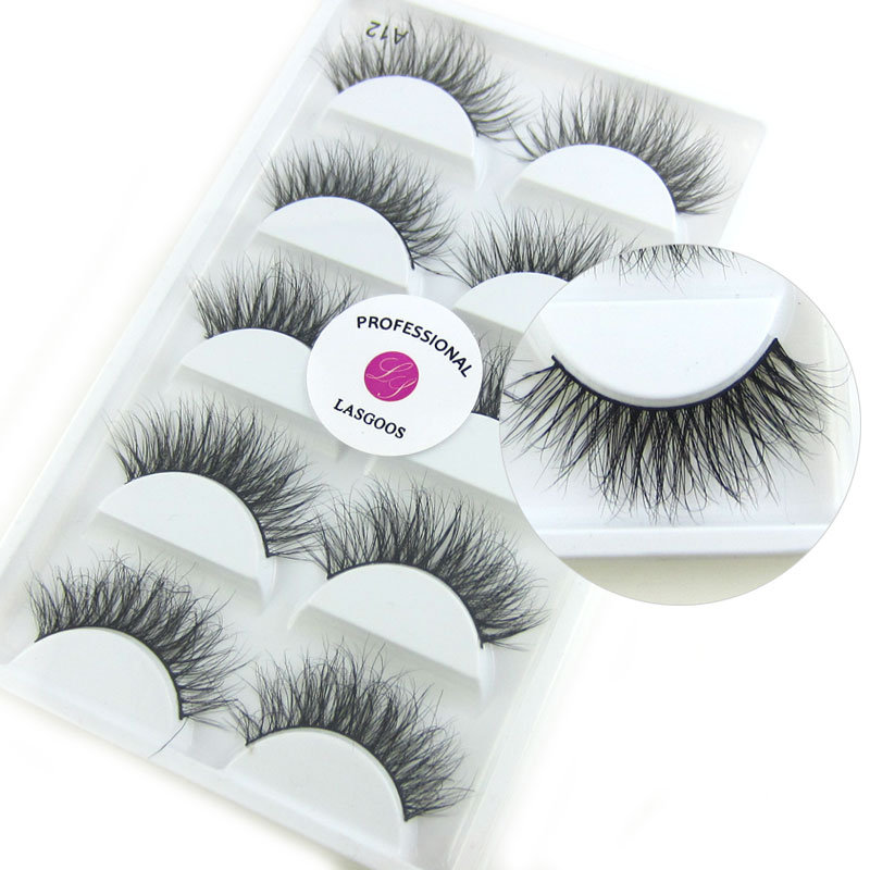 fc625cb4332 Detail Feedback Questions About Lasgoos Real Mink Siberian Messy Corner  Thick 3d Daily False Eyelashes Fake