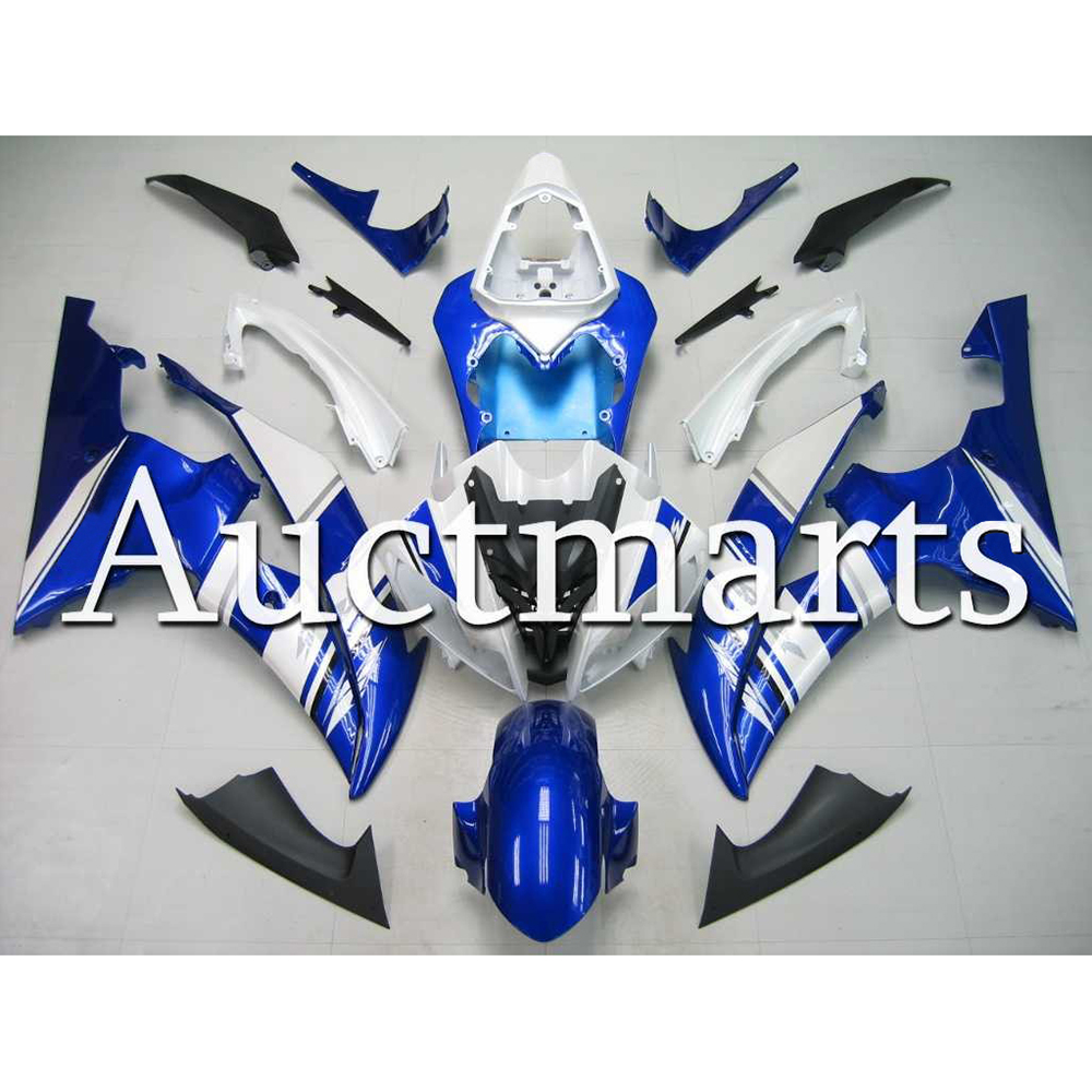 White Blue Full Bodywork For 2008 2016 Yamaha YZF 600 R6 Fairings High Quality ABS Injection 2012 2014 2015 Motorcycle Covers