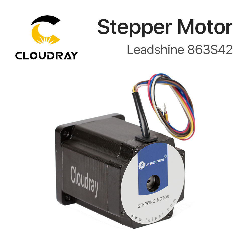 Cloudray Leadshine 3 Phase Stepper Motor 863S42 for NEMA34 4.3A Length 103mm Shaft 12mm leadshine 3 phase stepper motor 863s42 nema34 series step angle 1 2 degrees 5 0a 4 0n m stepping motor drive