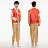 2016 Time Limited Rushed Polyester Dance Costumes Hmong Clothes Men Traditional Korean Hanbok Court Costume Clothing