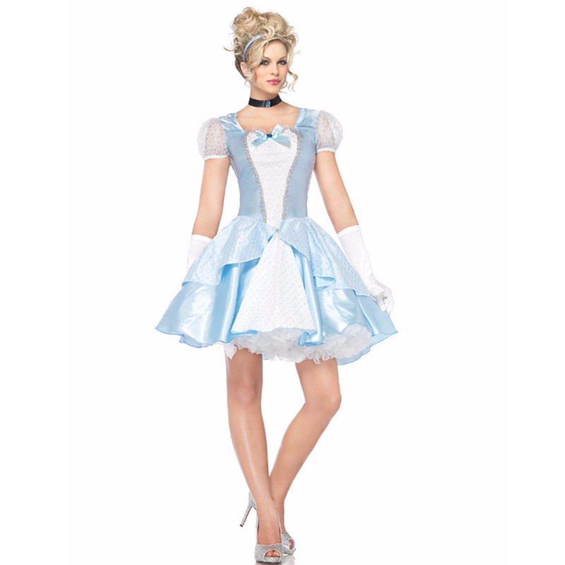 Fairy Tale Role Playing Game Blue Adult Princess Cinderella Costume Adult Princess Costume for Women Anime Costume for halloween image