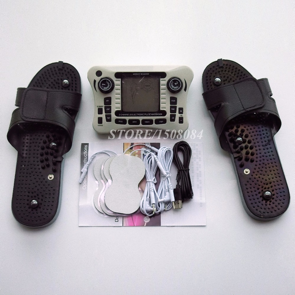 Двойной Электронный Импульсный сглаживающий массажный терапевтический прибор физиотерапевтический инструмент с пластиковыми массажными... - 3