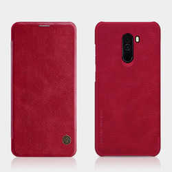NILLKIN for xiaomi poco f1 Case cover 6.18'' Vintage Qin Flip Cover wallet PU leather PC back cover for xiaomi pocophone f1 case