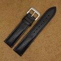 Negro Correa De Cuero de Vaca 20mm Marrón Naranja Hombres Band Reloj Pulsera Impermeable Brillante Grano Fahion Reloj Accesorios