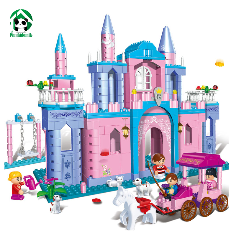 Princess Castle Building Blocks Toy Bricks Kits Set Friends Series Creative Educational Toys Gift for Girls 532 Pieces 4 Figures 10551 elves ragana s magic shadow castle building blocks bricks toys for children toys compatible with lego gift kid set girls