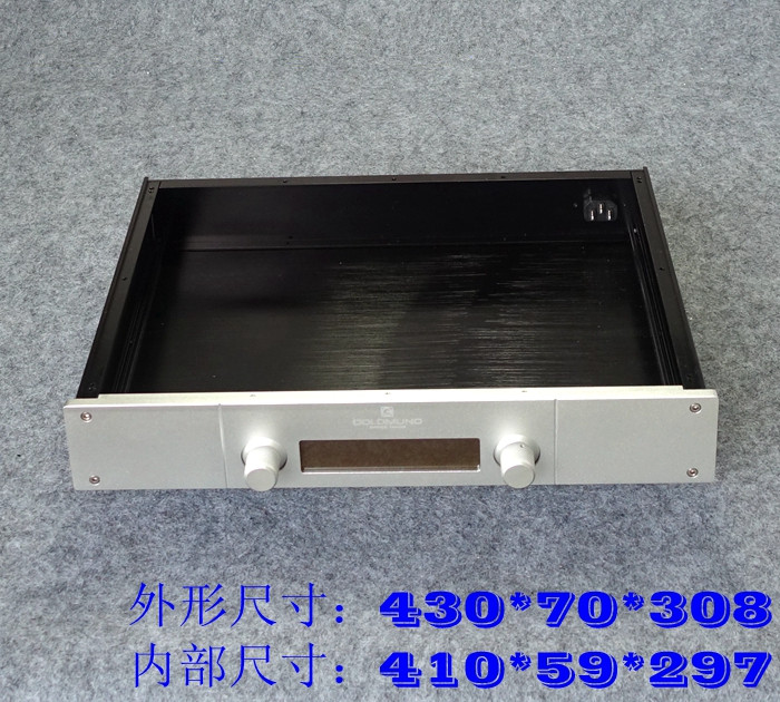 купить BZ4307G all aluminum preamplifier shell / AMP amplifier chassis / DIY case (430 * 70 * 308mm) по цене 4368.16 рублей