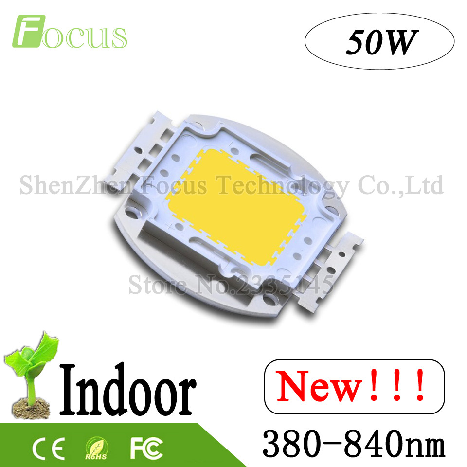 High Power LED Chip 50W Full Spectrum 380-840nm Grow LED For 50 Watt Grow Light Indoor Plant Vegetable Flower Fruit Growing high power led chip grow light 380nm 840nm 1w 3w 5w 10w 20w 30w 50w 100w full spectrum plant growing garden bulb vegetable diode
