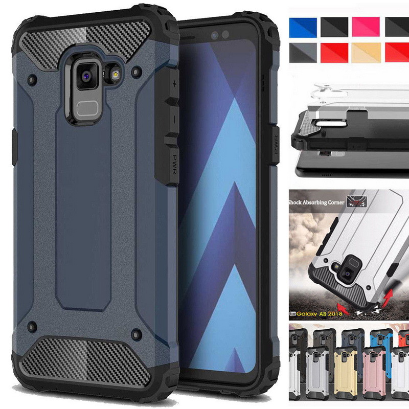 Hybrid Armor Shockproof Phone Case For Samsung Note9 S9 Plus A6 A8 2018 Full Cover Protective Case For Galaxy A3 A5 2016 A7 2017