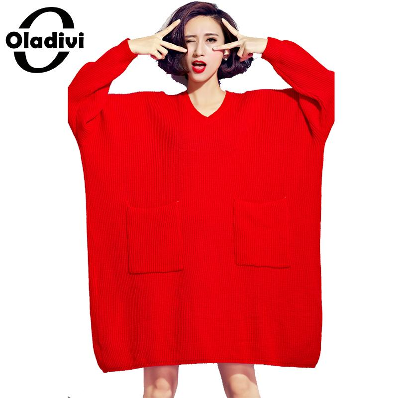 Oladivi Brand Plus Size Women Clothes Casual Loose Sweaters Female Oversized Top Ladies Knitted Pullover Tunic Vestidios 8XL 6XL