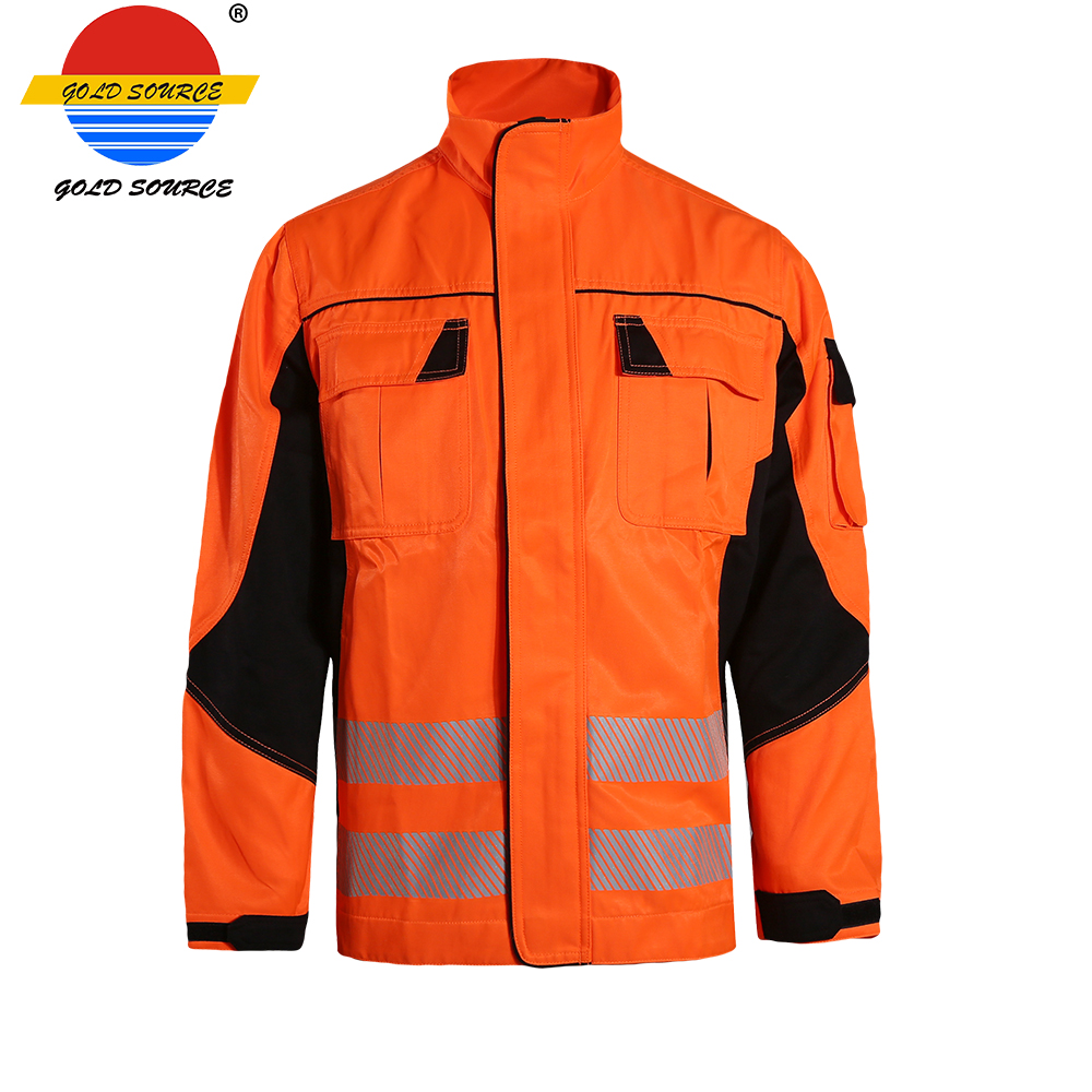 Urban Supply Hi Vis Fire Retardant Orange Welding Coat Quilted Safety Mens Winter Jacket Security & Protection Workplace Safety Supplies