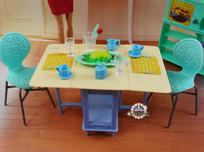 furniture for barbie doll original house toys barbie kitchen accessories fashionista dream house Tableware in kind toy set