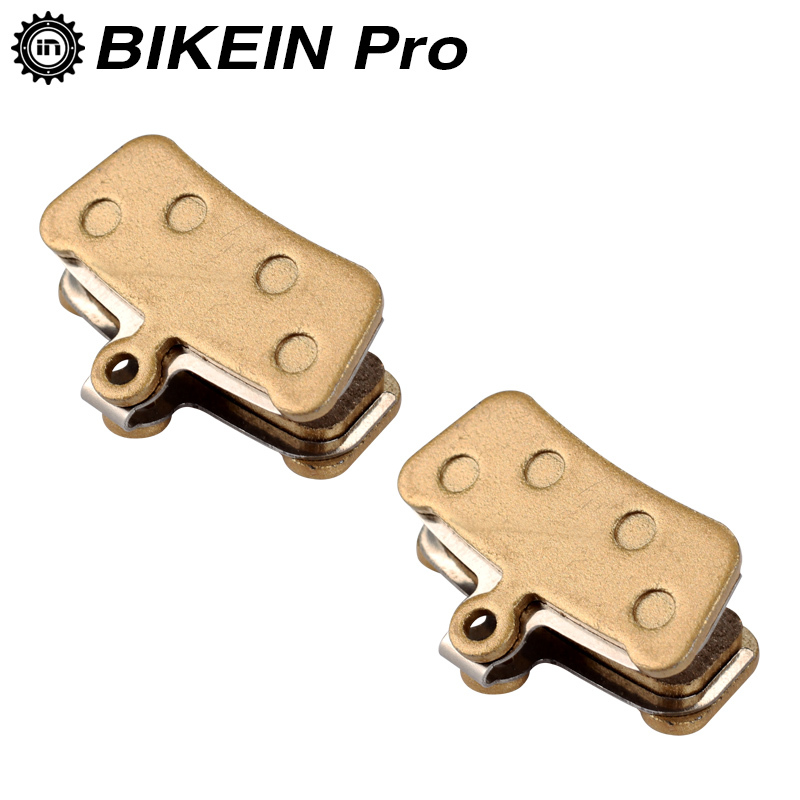 BIKEIN 2 Pairs Mountain Bike Metallic Disc Brake Pads For SRAM Guide RSC/RS/R Avid XO E7 E9 Trail 4 Pistions, New Code, Code R