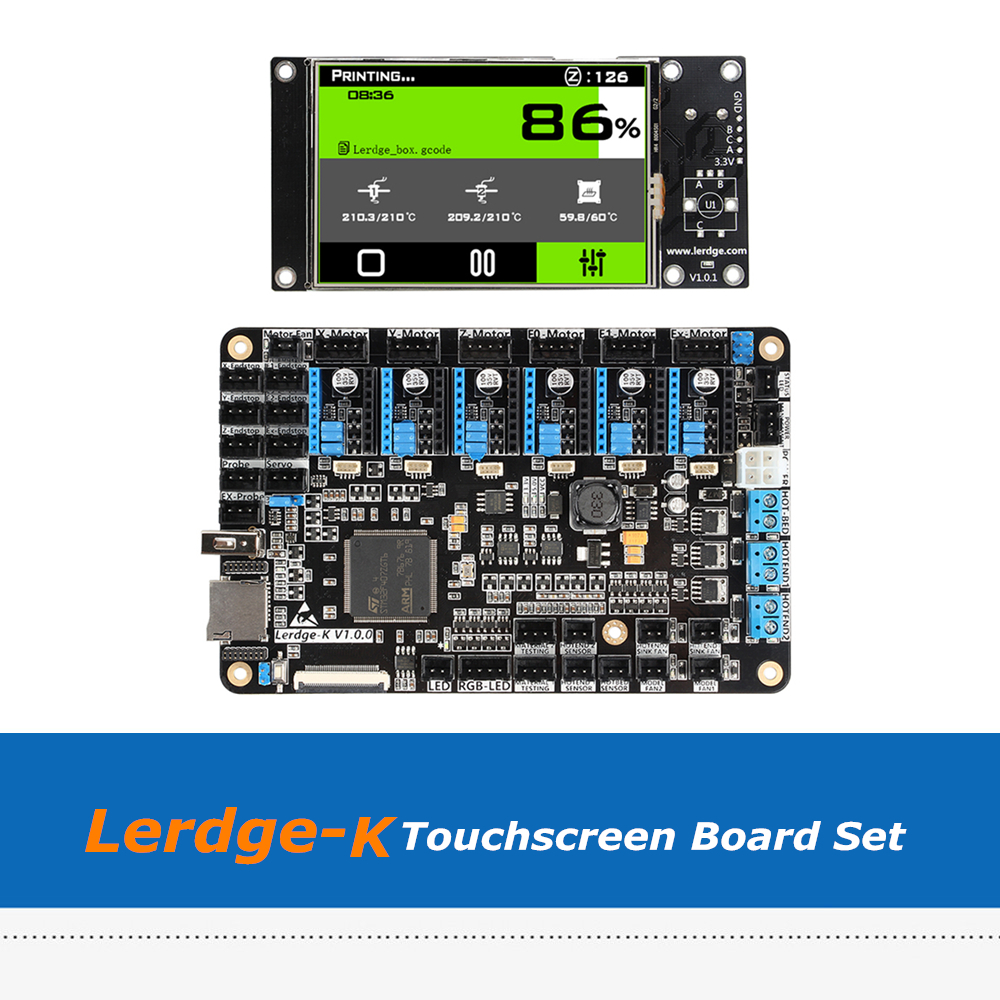 3D Printer Motherboard Lerdge K 3.5inch Touchscreen  ARM 32-bit Controller Board Set With A4988/Drv8825/TMC2208/LV8729 Driver