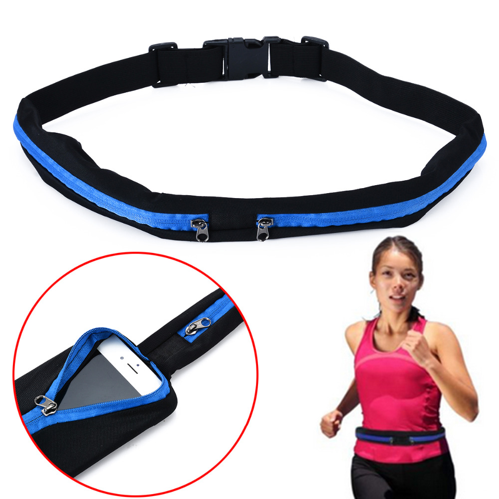 Waist Purse Russian Dog with Scarf Unisex Outdoor Sports Pouch Fitness Runners Waist Bags