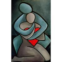 Oil art portrait paintings for living room Lovers hand painted modern art