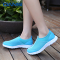 Comfortable soft 2016 Spring Summer casual lady jogging shoes new color lightweight trainer slip on Eva sole zapatillas mujer