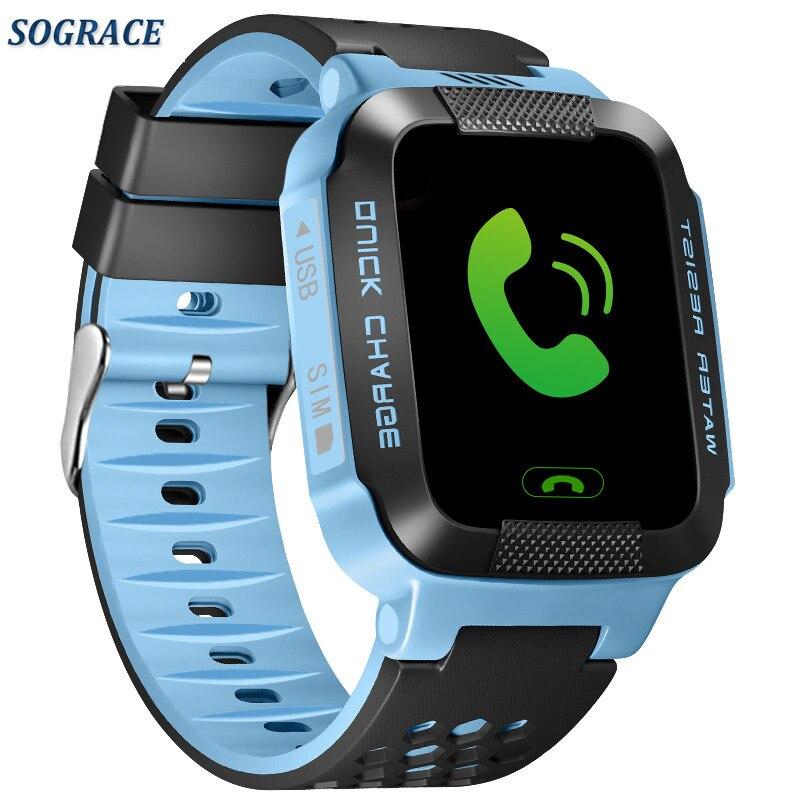 SOGRACE Gps montre intelligente si mignon pour enfant Smartwatch rappel d'appel montre téléphone au poignet connecter Android montre Y116