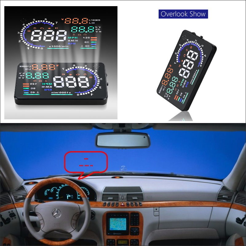 Liislee For Mercedes Benz Projection to windshield car s HUD head up display screen projector Decrease