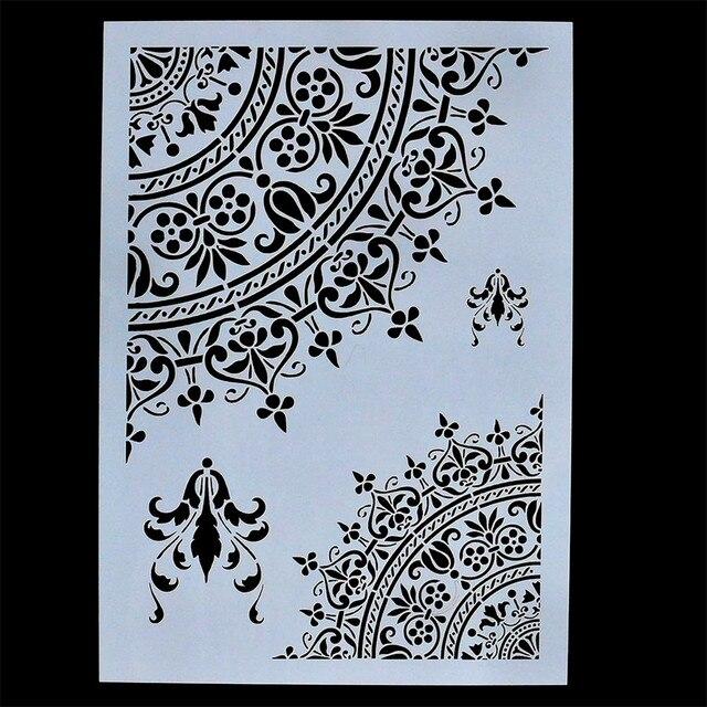 diy embossing paper card flower template craft mandala stencils for