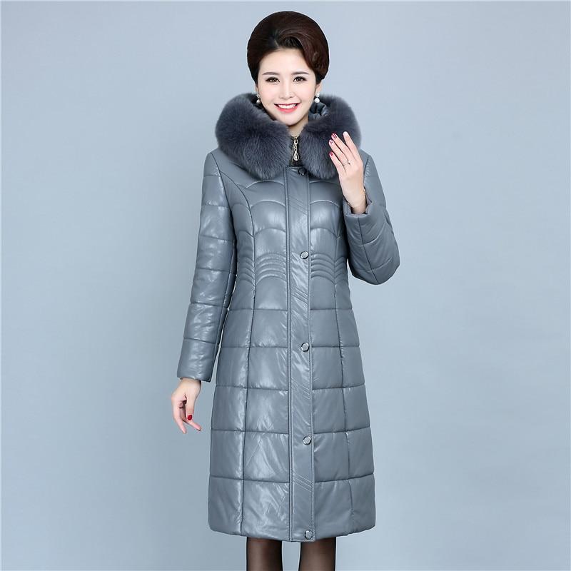 HADAVOE2019 популярное пальто, Зимняя женская куртка с капюшоном, теплые парки, высокое качество, женская новая зимняя коллекция, Модное теплое п... - 3