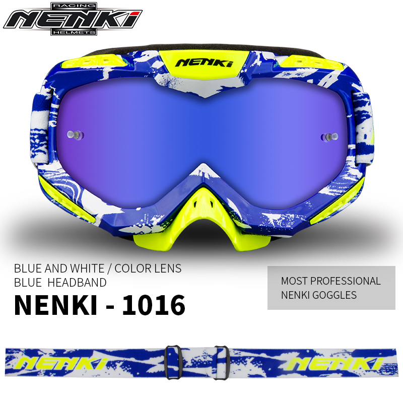 NENKI Motocross Glasses Off-Road Dirt Bike ATV DH MX Motorcycle Glasses Racing Eyewear Skiing Motocross Goggles Replaceable Lens dwcx motorcycle adjustable chain tensioner bolt on roller motocross for harley honda dirt street bike atv banshee suzuki chopper