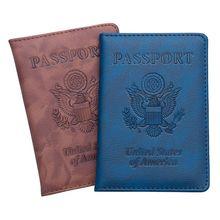 THINKTHENDO Fashion USA Travel Passport ID Card Cover Holder Case Protector Organizer Accessories 14x9.8cm